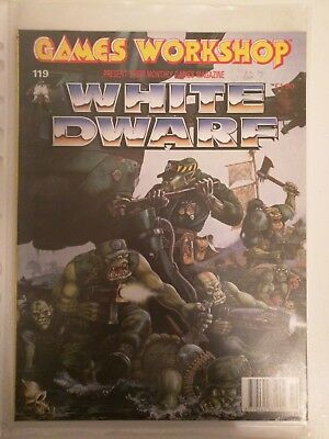 WHITE DWARF 119 Issue Warhammer Fantasy 40 000 Games Workshop