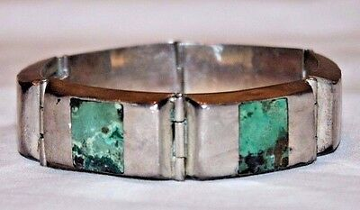 Vintage Mexico Sterling Silver and Turquoise Bracelet