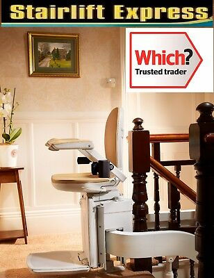 Brand new curved Brooks stairlift, fitted with 1yr warranty!