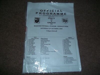 Rugby League 2Nd Annual Ionio Cup Match Italy V Greece Bossley Park Marconi 2004