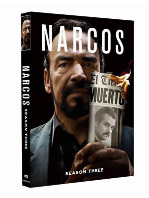 NARCOS Season 3 (DVD, 2017, 3-Disc Set) Series 3 New Sealed - FREE PRIORITY POST