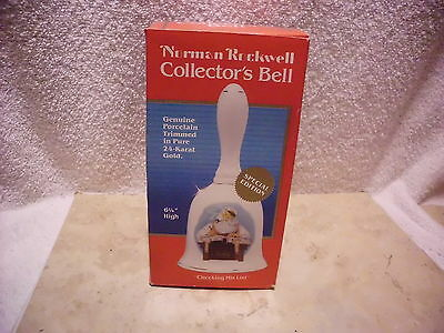 The Norman Rockwell Museum Special Ed. Collector's Bell Checking His List Santa