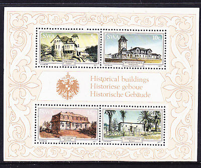 South West Africa 1977 Historic Building Miniature Sheet