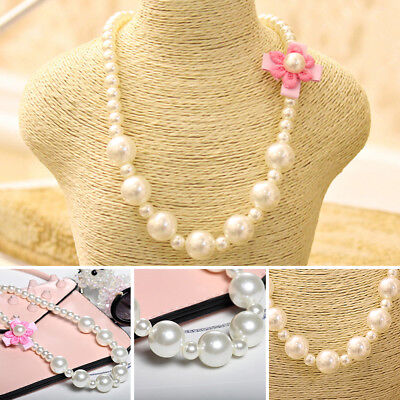 Imitation Pearls Jewelry Kids Shape Party Necklace Beads Girls Children Flowers