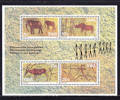 South West Africa 1976 Pre Historic Animals Miniature sheet