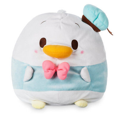 """Disney Store Donald Duck Ufufy Plush Med 12"""" Soft Squeezable Fill Sits Upright"""