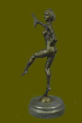 LOVELY 1920's DECO NOUVEAU DANCER SIGNED CHIPARUS PURE HOT CAST BRONZE STATUE