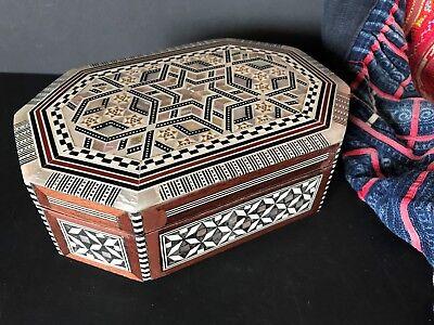 Old North African Inlaid Wooden Box …a beautiful gift piece