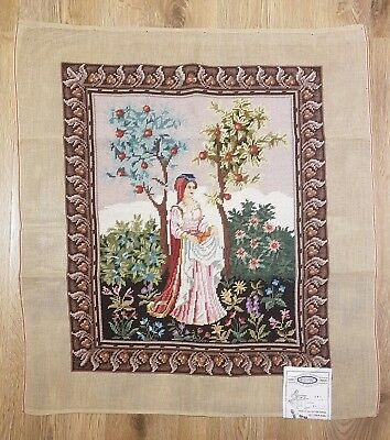 """Lady Apples / Completed Wool Tapestry / Size (20"""" x 23"""")"""