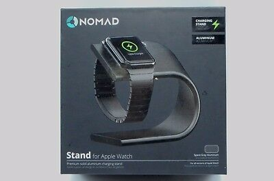 Nomad Charging Stand for Apple Watch - Space Gray - STAND-APPLE-SG-001