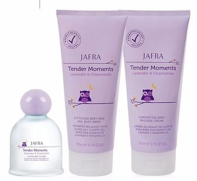 Jafra Tender Moments Lavender & Chamomile 3 Piece Set Cologne + Cream + Shampoo