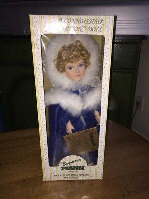 Seymour Mann Porcelain Doll Connoisseur Collection With Box And Stand  New