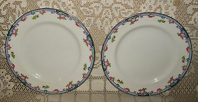 2 x VINTAGE PARAGON CHINA SIDE/CAKE PLATES England 16cm