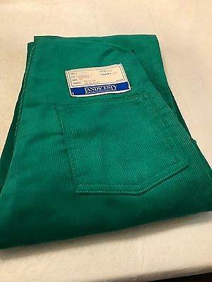 Older Lands' End Emerald Green 6X Corduroy Overalls NWT