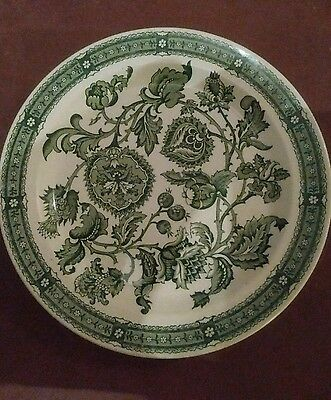 """Ridgeway """"Jacobean"""" side plate Green flowers great condition age unknown"""