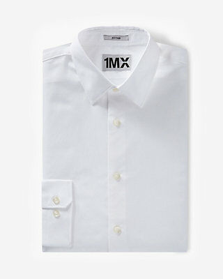 "New MENS EXPRESS MEDIUM""Fitted"" White 1MX Dress Shirt(DIRTY)88% Off New/defx"