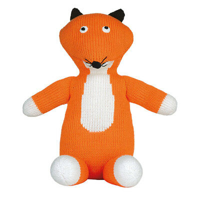 Ruth Green Hand Knitted Fox Childrens Toy - 26Cm Height