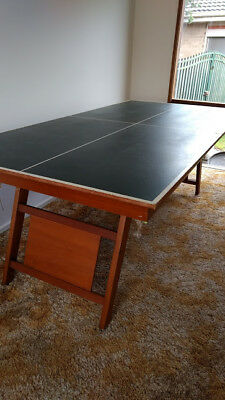 Reversible table tennis top