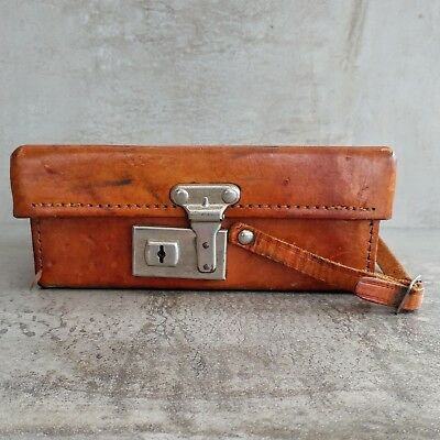 Vintage Australia Telecom Leather Case Only for Multimeter No Key Empty Box Aged