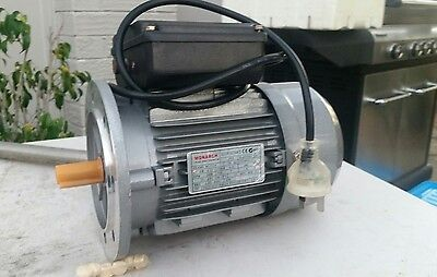 TECO Electric Motor 370 Watt, 1/2HP, 1400 rpm, Single Phase, 14mm shaft D