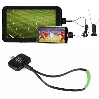 ATSC Micro USB Digital TV Tuner Receiver Stick For Android Phone/Pad Black