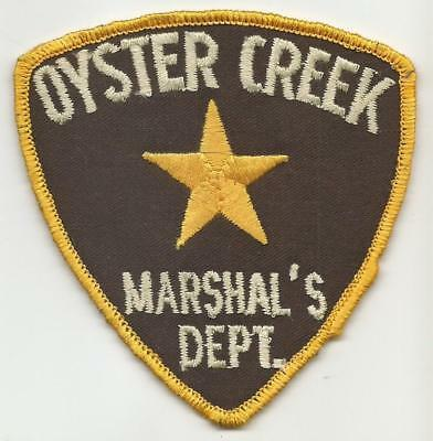 Oyster Creek TEXAS TX Police Marshal patch OLD