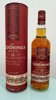 Glendronach Original 12 Year Old Single Malt Scotch Whisky 700ml 43 % abv