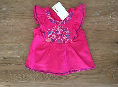 NEW TARGET Baby Girl Top PINK Tshirt Size 0 To Fit 6-12 Months Infants RR$12