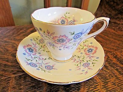 "Vintage Avon ""blue Blossoms"" Bone China Tea Cup And Saucer"