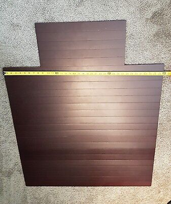 36 x 47 in Bamboo Roll-Up Tongue Chair Mat in dark cherry finish