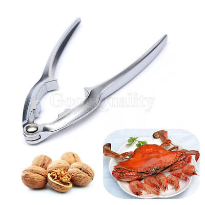 Stainless Steel Plier Cracker Nut Walnut-Lobster Crab Bottle Opener Sheller Tool