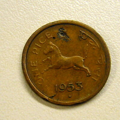 1953 India 1 Pice Coin