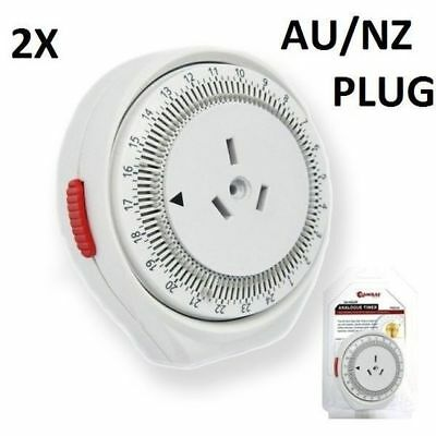 2 X Timers 24hr Electrical Power Timer Switch Safety Plug In
