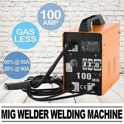 Mig Welder 100Amp Flux Welding Machine 110V Welder Automatic Ip21 Free Warranty