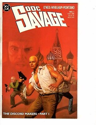 Lot Of 8 Doc Savage DC Comic Books # 1 2 3 4 5 6 7 8 1988 Discord Makers PP6