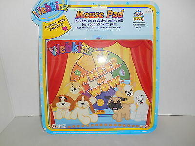 New Webkinz Mouse Pad Wheel of Wild w/ Feature Code GANZ