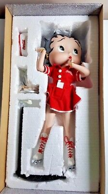 "Betty Boop 16"" Coca-Cola Handpainted Statue / Figure ""Betty's Diner"""