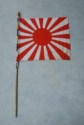 Japanese WW2 Army/Navy Seeing Off Cloth with pole#a6212