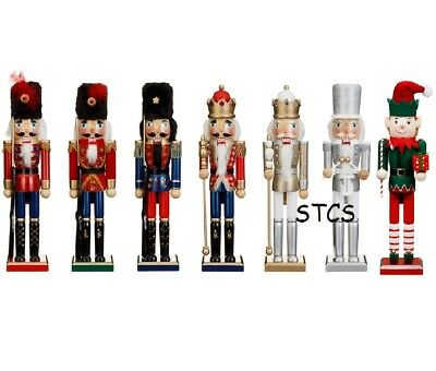 38cm CHRISTMAS NUTCRACKER - RED BLUE GOLD SILVER ELF  SOLDIER DISPLAY DECORATION
