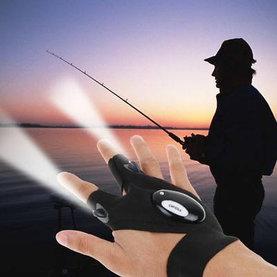 US LED Light Gloves Finger Auto Repair Received Outdoor Lighting Gloves Artifact