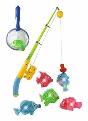 Zviku Magnetic Light Up Fishing Baby Bath Toys Set for toddlers - Includes Ro...