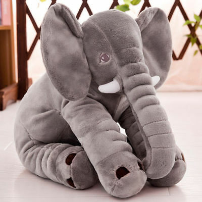 Cute Plush Doll Long Nose Elephant Sleep Pillow Lumbar Cushion Large  Baby Toy
