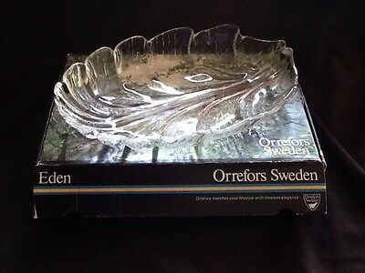 Orrefors Sweden Oval Dish (New)