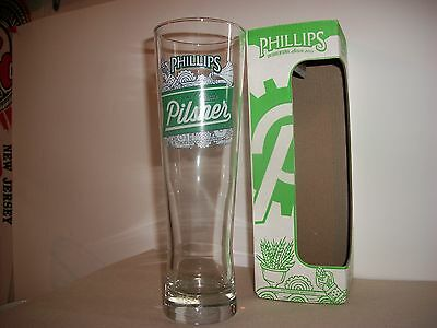 Rare- Phillips Craft Made Pilsner Beer Glass Brand New