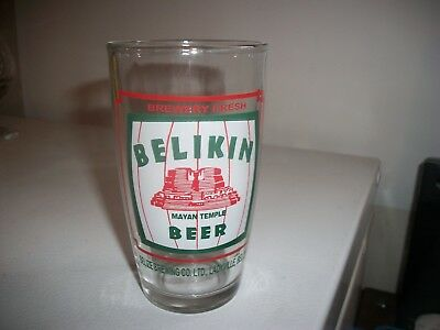 Belikin Mayan Temple Beer- Beer Glass, Belize