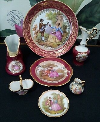 Monarch Limoges France 7Pc  Collection