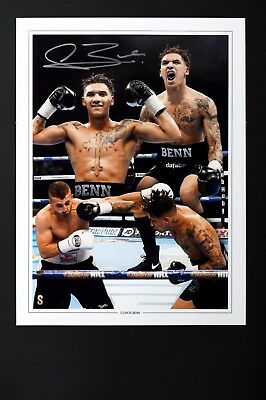 Conor Benn Box handsigniert Foto Authentisch Original + COA - 16x12