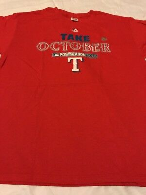 MLB Take October T Majestic Men's Red  T-Shirt Large New