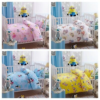 Baby Crib Cot Quilt Set 100% Cotton Cartoon Theme Nursery Bedding Set Brand New