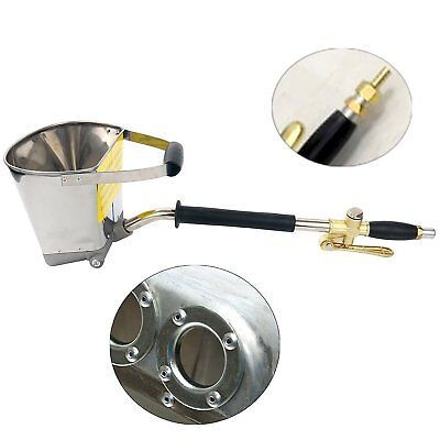 4 Jet Stucco Cement Mortar Sprayer Hopper Spray Gun Wall Painting Concrete Tool